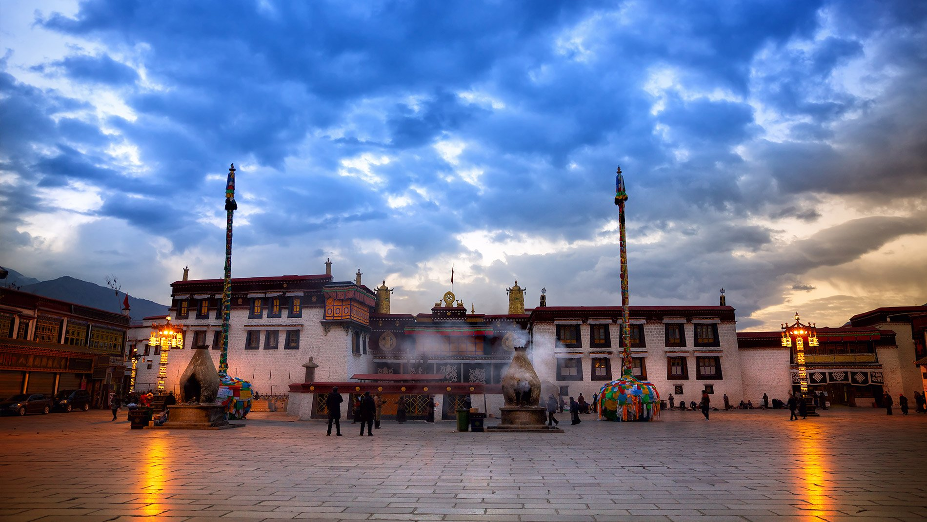 Jokhang Temple~The Jowo statue, Tibetan Buddhism's holiest, is housed in the innermost chapel of the seventh century Jokhang Temple, at the heart of Lhasa.