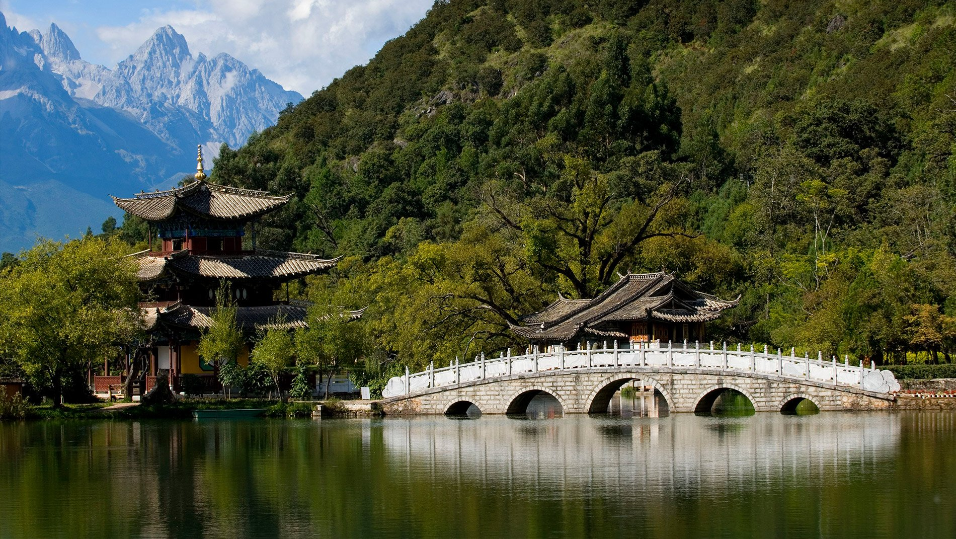 Jade Dragon Snow Mountain~The melting glacier overlooking Lijiang is the source of its freshwater and also a symbol of the challenging terrain of the Tea and Horse trade route on which Lijiang traditionally relied for its income.