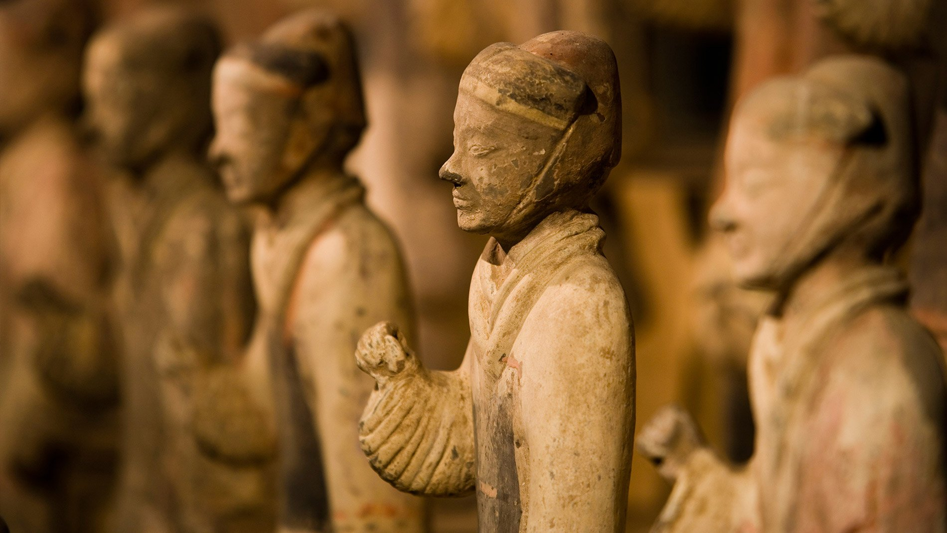 Yangling Museum~Though not as well-known as the Terracotta Warriors site, the Yangling museum of the second century BCE features thousands of stylized burial objects from the mausoleum of the Han dynasty Emperor Jing.